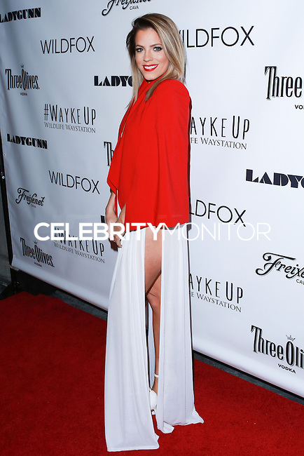 LOS ANGELES, CA, USA - DECEMBER 14: Stefanie Bauer arrives at the Wayke Up Fundraiser presented by Wildfox and Ladygunn Magazine hosted by Nikki Reed held at the Sofitel Hotel on December 14, 2014 in Los Angeles, California, United States. (Photo by David Acosta/Celebrity Monitor)