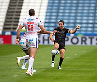 22nd August 2020; The John Smiths Stadium, Huddersfield, Yorkshire, England; Rugby League Coral Challenge Cup, Catalan Dragons versus Wakefield Trinity; James Maloney of Catalan Dragons kicks forward