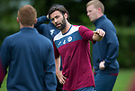 St Johnstone FC Training...<br /> Simon Lappin talks with Liam Caddis<br /> Picture by Graeme Hart.<br /> Copyright Perthshire Picture Agency<br /> Tel: 01738 623350  Mobile: 07990 594431