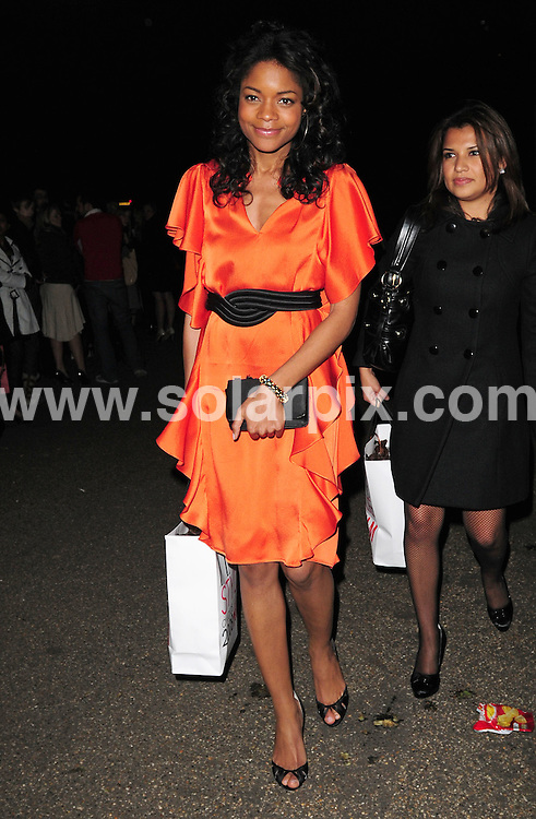 **ALL ROUND PICTURES FROM SOLARPIX.COM**.**WORLDWIDE SYNDICATION RIGHTS**.Departures from the Elle Style Awards.  Held at the Westway Sports Centre, London. 12th February 2008...This pic: Naomie Harris..JOB REF: 5775 SSD     DATE: 12_02_2008.**MUST CREDIT SOLARPIX.COM OR DOUBLE FEE WILL BE CHARGED* *UNDER NO CIRCUMSTANCES IS THIS IMAGE TO BE REPRODUCED FOR ANY ONLINE EDITION WITHOUT PRIOR PERMISSION*