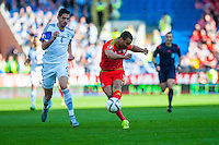 (L-R ) Nir Bittonof Israel  tries to catch up as Hal Robson-Kanu of Wales takes a missed shot at goal during their UEFA EURO 2016 Group B qualifying round match held at Cardiff City Stadium, Cardiff, Wales, 06 September 2015. EPA/DIMITRIS LEGAKIS