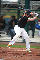 Joe Setting (10) of SALESIANUM High School in Wilmington, Delaware during the Under Armour All-American Pre-Season Tournament presented by Baseball Factory on January 15, 2017 at Sloan Park in Mesa, Arizona.  (Art Foxall/MJP/Four Seam Images)