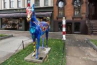 Downtown Saratoga Springs, New York, USA