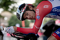 Romain Seigle (FRA/Groupama - FDJ) warming up ahead of his time trial<br /> <br /> 104th Giro d'Italia 2021 (2.UWT)<br /> Stage 21 (final ITT) from Senago to Milan (30.3km)<br /> <br /> ©kramon