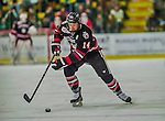 17 December 2013:  Northeastern University Huskies Forward Braden Pimm, a Senior from Fort St. John, British Columbia, leads a rush against the University of Vermont Catamounts in the first period at Gutterson Fieldhouse in Burlington, Vermont. The Huskies shut out the Catamounts 3-0 to end UVM's 5 game winning streak. Mandatory Credit: Ed Wolfstein Photo *** RAW (NEF) Image File Available ***