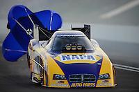 Jun. 15, 2012; Bristol, TN, USA: NHRA funny car driver Ron Capps during qualifying for the Thunder Valley Nationals at Bristol Dragway. Mandatory Credit: Mark J. Rebilas-