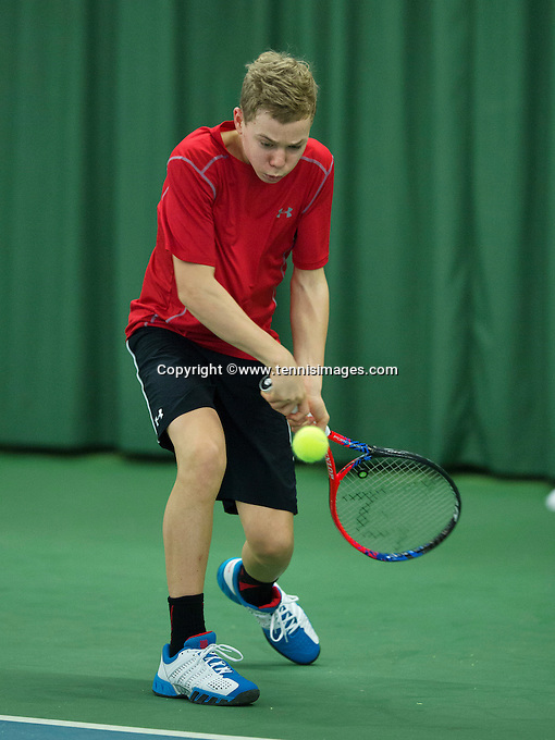 Rotterdam, The Netherlands, March 11, 2016,  TV Victoria, NOJK 12/16 years, Lodewijk Weststrate (NED)<br /> Photo: Tennisimages/Henk Koster