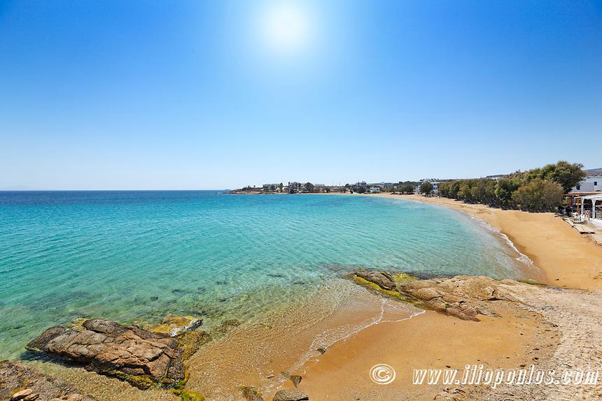 Logaras beach in Paros island, Greece