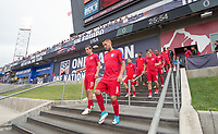 Commerce City, CO - Thursday June 08, 2017: Alejandro Bedoya, Clint Dempsey during a 2018 FIFA World Cup Qualifying Final Round match between the men's national teams of the United States (USA) and Trinidad and Tobago (TRI) at Dick's Sporting Goods Park.