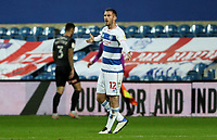 Dominic Ball of Queens Park Rangers reacts to bad pass by his team mates during Queens Park Rangers vs Rotherham United, Sky Bet EFL Championship Football at The Kiyan Prince Foundation Stadium on 24th November 2020