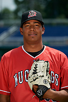 Batavia Muckdogs pitcher Luis Mojica (30) poses for a photo on July 2, 2018 at Dwyer Stadium in Batavia, New York.  (Mike Janes/Four Seam Images)