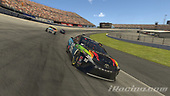 #96: Daniel Suarez, Gaunt Brothers Racing, Toyota Camry, #18: Kyle Busch, Joe Gibbs Racing, Toyota Camry<br /> <br /> (MEDIA: EDITORIAL USE ONLY) (This image is from the iRacing computer game)
