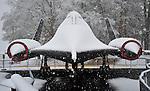 Blackbird SR-71 at U.S. Space & Rocket Center in snow on Christmas Day Dec. 25, 2010.  Bob Gathany Photographer