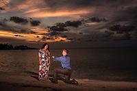 Mathew and Dana proposal at Somerset Long Bay.