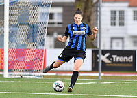 Frieke Temmerman (17 Brugge) pictured during a female soccer game between Club Brugge Dames YLA and Oud Heverlee Leuven on the 8 th matchday of the 2020 - 2021 season of Belgian Scooore Womens Super League , saturday 21 th November 2020  in Knokke , Belgium . PHOTO SPORTPIX.BE | SPP | DAVID CATRY