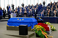 European Ceremony of Honour for Dr. Helmut KOHL, Former Chancellor of the Federal Republic of Germany and Honorary Citizen of Europe (1930 - 2017) at the European Parliament in Strasbourg<br /> - Brigitte # CEREMONIE D'HOMMAGE A HELMUT KOHL AU PARLEMENT EUROPEEN