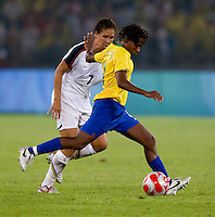 Shannon Boxx, Formiga. The USWNT defeated Brazil, 1-0, to win the gold medal during the 2008 Beijing Olympics at Workers' Stadium in Beijing, China.