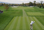 5 October 2008: Eventual winner Dustin Johnson hits a tee shot on the first hole of his final round at the Turning Stone Golf Championship in Verona, New York.