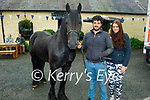 Enjoying Camp Horse Fair on Monday, l to r: Jason Rogers (Tralee) and Lisa O'Sullivan (Killorglin) with Bagheera the horse.
