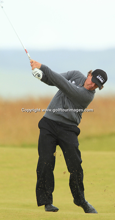 Phil Mickelson (USA) during the third round of the 2012 Aberdeen Asset Management Scottish Open being played over the links at Castle Stuart, Inverness, Scotland from 12th to 15th July 2012:  Stuart Adams www.golftourimages.com:14th July 2012