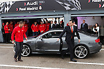 Real Madrid player Karim Benzema participates and receives new Audi during the presentation of Real Madrid's new cars made by Audi at the Jarama racetrack on November 8, 2012 in Madrid, Spain.(ALTERPHOTOS/Harry S. Stamper)