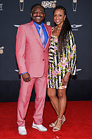"""MIAMI, FL - FEBRUARY 1: Billy """"White Shoes"""" Johnson and Guest attend the 2020 NFL Honors at the Ziff Ballet Opera House during Super Bowl LIV week on February 1, 2020 in Miami, Florida. (Photo by Anthony Behar/Fox Sports/PictureGroup)"""