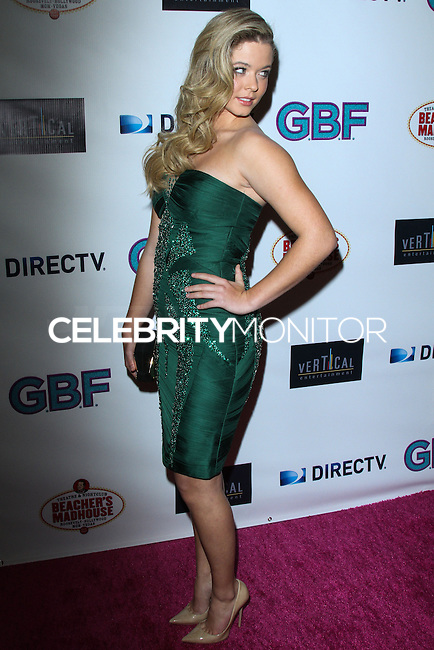 """HOLLYWOOD, CA - NOVEMBER 19: Sasha Pieterse arriving at the """"G.B.F."""" Los Angeles Premiere held at the Chinese 6 Theater Hollywood on November 19, 2013 in Hollywood, California. (Photo by David Acosta/Celebrity Monitor)"""