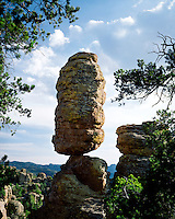 Balanced Rock in Heart of Rocks; Chiricahua National Monument, AZ