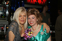 One Life To Live's Ilene Kristen poses with Tina McKennick (who stars in When Joey Married Bobby at the Roy Arias Theater Center) on April 28, 2010 at Will Clark's P*rno Bingo at Pieces, New York City, New York to benefit the American Foundation for Suicide Prevention - an event presented by We Love Soaps (Damon Jacobs and Roger Newcomb). (Photos by Sue Coflin/Max Photos)