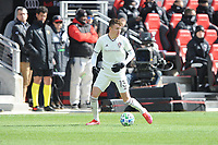 WASHINTON, DC - FEBRUARY 29: Washington, D.C. - February 29, 2020: Sam Vines #13 of the Colorado Rapids moves the ball during a game between D.C. United and the Colorado Rapids. The Colorado Rapids defeated D.C. United 2-1 during their Major League Soccer (MLS)  match at Audi Field during a game between Colorado Rapids and D.C. United at Audi FIeld on February 29, 2020 in Washinton, DC.