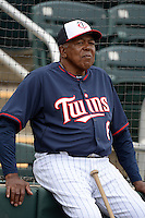 Coach Tony Oliva (6) of the Minnesota Twins during practice on February 25, 2014 at Hammond Stadium in Fort Myers, Florida.  (Mike Janes Photography)