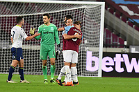 Vladimir Coufal of West Ham United and Mark Noble of West Ham United At the Final Whistle Applause Fan's during West Ham United vs Aston Villa, Premier League Football at The London Stadium on 30th November 2020