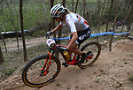 MTB Race VTT - Internazionali d'Italia Series - Ladies. Nals - Nalles, Italy on April 10, 2021. In action  Francesca Saccu