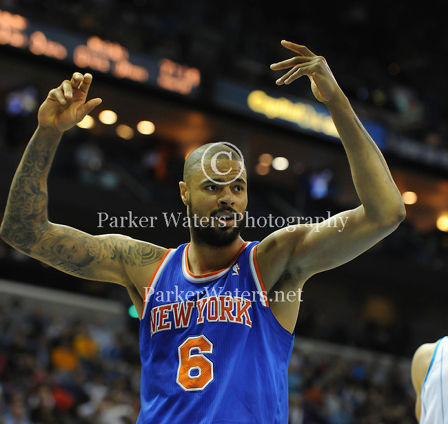 The New York Knicks defeat the New Orleans Hornets 102-80 in the New Orleans Arena.  Images within this gallery are not available for sale or further distribution and appear solely as a representation of my photography.