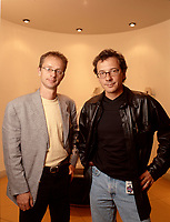 File Photo  Montreal (QC) CANADA<br /> <br /> Eric Beaudpin (L) Roger Simard, CONCEPTIS TECHNOLOGIE sold Dec 2005 to Web MD.<br /> <br /> Conceptis, based in Montreal, is a leading provider of online and offline medical education and promotion aimed at physicians and other healthcare professionals. The Company is best known for its pioneering, Internet-based ìdigital communitiesî that serve healthcare professionals in key medical specialties, including: theheart.org, jointandbone.org and thekidney.org. In addition to news and research, the communities provide continuing medical education (CME), physician education, research extracts, and online forums.<br /> <br /> WebMD Health (NASDAQ: WBMD) is the leading provider of health information and services to consumers and healthcare professionals, offering online healthcare information, decision-support applications and communications service<br /> <br /> Photo :  (c) Images Distribution