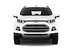 Car photography straight front view of a 2015 Ford ECOSPORT TITANIUM 5 Door SUV Front View