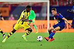 Borussia Dortmund striker Ousmane Dembele (l) dribbling Manchester United midfielder Ander Herrera (r) during an attack of Dortmund during the International Champions Cup China 2016, match between Manchester United vs Borussia  Dortmund on 22 July 2016 held at the Shanghai Stadium in Shanghai, China. Photo by Marcio Machado / Power Sport Images