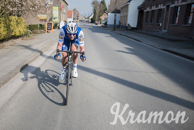 Iljo Keisse (BEL/Quick-Step floors) chasing back into the pack<br /> <br /> 60th E3 Harelbeke (1.UWT)<br /> 1day race: Harelbeke › Harelbeke - BEL (206km)