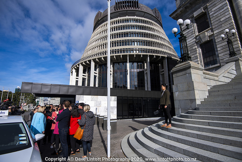 National MP Jusith Collins arrives at NZ Parliament Buildings in Wellington, New Zealand on Thursday, 4 July 2019. Photo: Dave Lintott / lintottphoto.co.nz