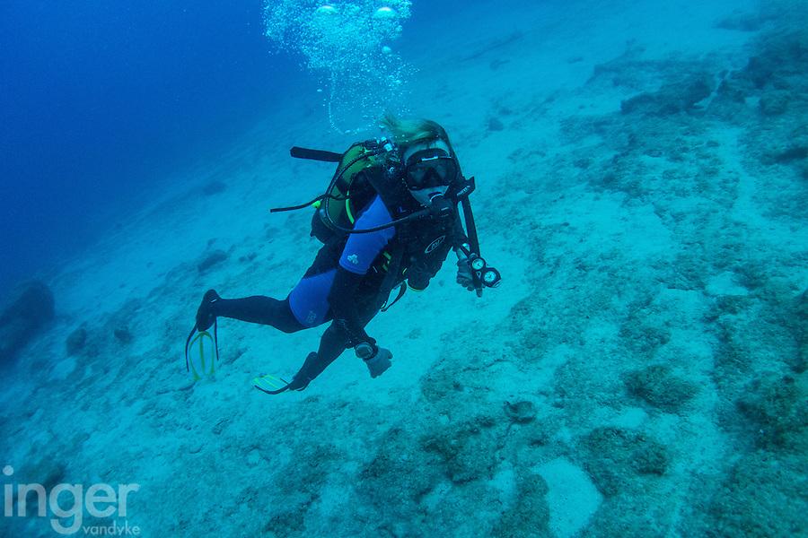 Scuba diver off Kas, Turkey