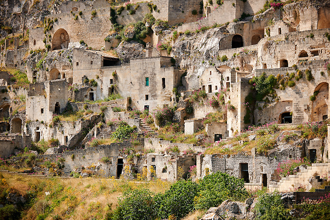 The ancient cave dwellings, known as ? Sassi ? , in Matera, Southern Italy. A UNESCO World Heritage Site.