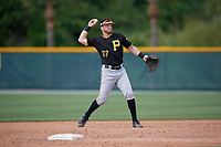 Pittsburgh Pirates Kyle Mottice (27) during a minor league Spring Training game against the Philadelphia Phillies on March 13, 2019 at Pirate City in Bradenton, Florida.  (Mike Janes/Four Seam Images)