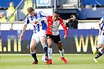 Nederland, Heerenveen, 21 mei 2015<br /> Seizoen 2014-2015<br /> SC Heerenveen-Feyenoord<br /> Joey van den Berg van SC Heerenveen en  Jean-Paul Boetius van Feyenoord strijden om de bal