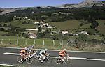 (R to L) Igor Anton, Alexsandr Dyachenko, Marzio Bruseghin and Gorka Verdugo go through a typical landscape in the Basque Country during the stage of La Vuelta 2011 between Noja and Bilbao.September 9,2011. (ALTERPHOTOS/Alfaqui/Paola Otero)
