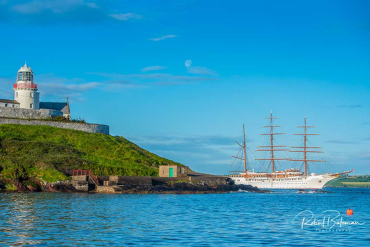 The luxury Tall Ship 'Sea Cloud II' arrives into Cork Harbour on a Summer visit in 2019