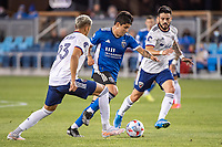 SAN JOSE, CA - MAY 01: Tony Alfaro #93 of DC United chases Javier Eduardo Lopez #9 of the San Jose Earthquakes during a game between San Jose Earthquakes and D.C. United at PayPal Park on May 01, 2021 in San Jose, California.