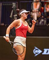 Den Bosch, The Netherlands, Februari 9, 2019,  Maaspoort , FedCup  Netherlands - Canada, first match: Bianca Andreescu (CAN)<br /> Photo: Tennisimages/Henk Koster