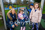 The Buckley family enjoying the playground in the Tralee town park on Thursday, l to r: Isabelle, Odhran, Siadhb and Emma Buckley.