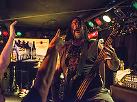 Bassist Mick Whitney rages on as Anchorage's homegrown metal gods 36 Crazyfists perform during a pre-halloween show at Chilkoot Charlie's.