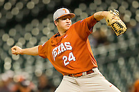 Relief pitcher Parker French #24 of the Texas Longhorns in action against the Rice Owls at Minute Maid Park on March 2, 2012 in Houston, Texas.  The Longhorns defeated the Owls 11-8.  Brian Westerholt / Four Seam Images